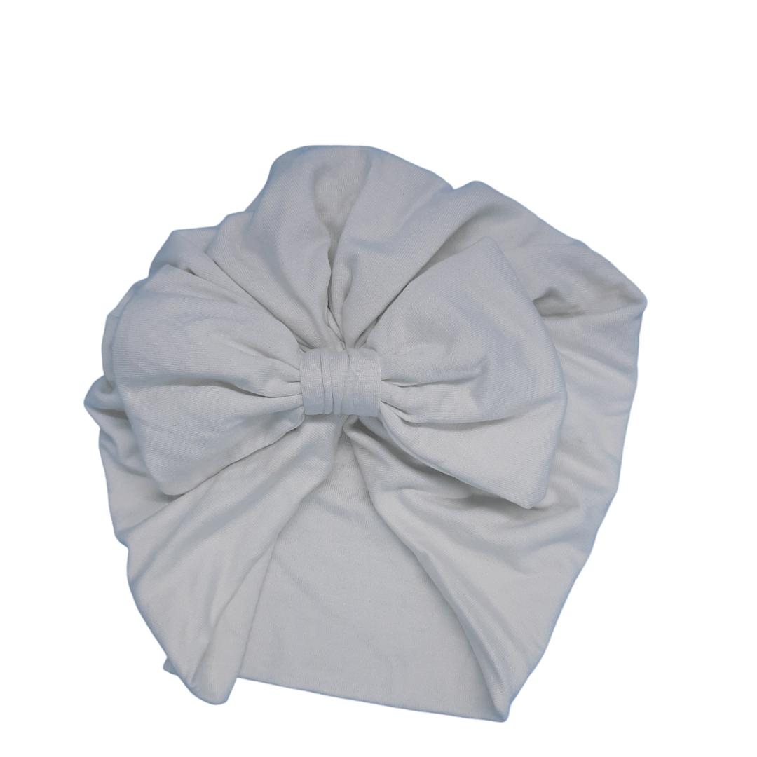 Turbante branco de algodão