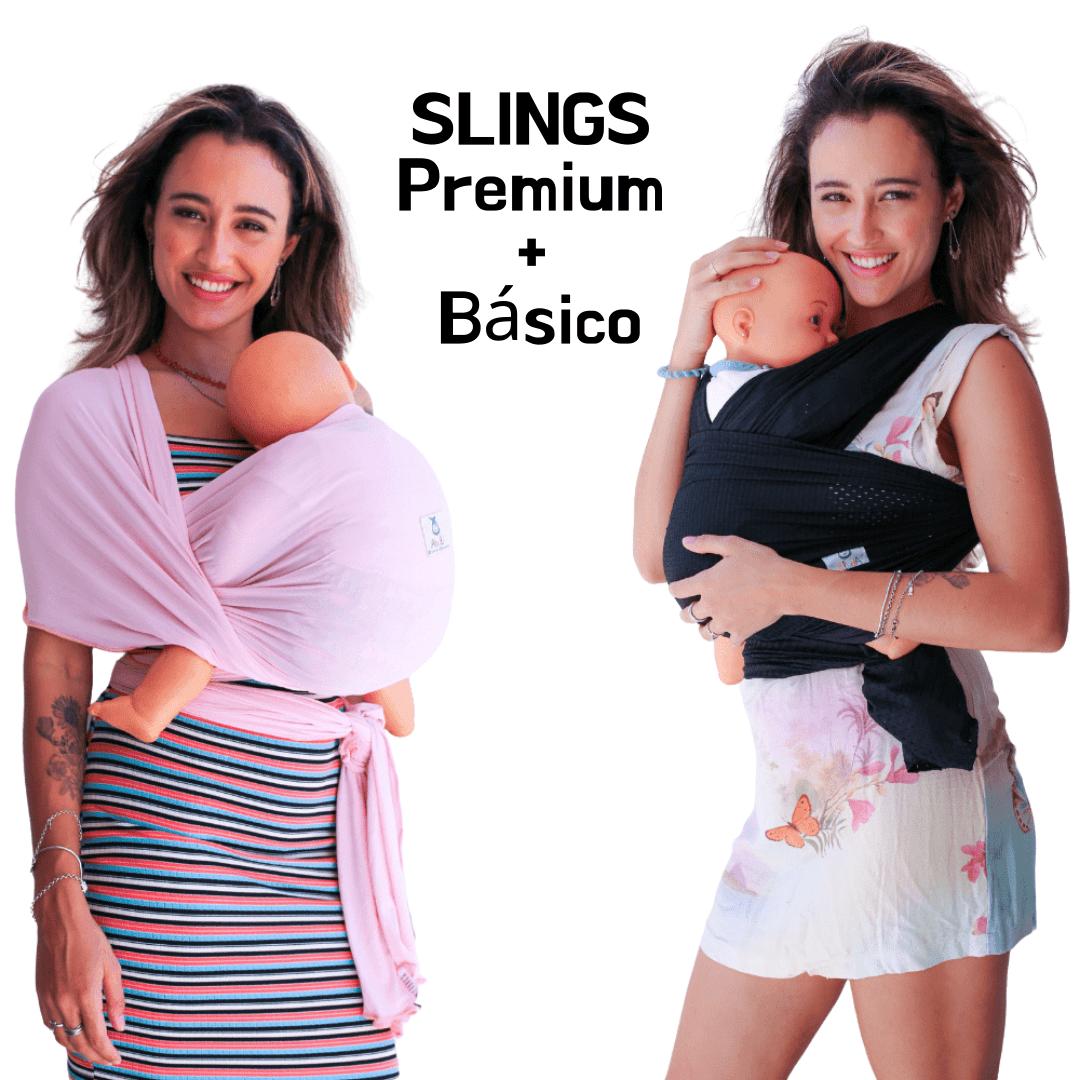 Kit 2 Slings para bebê Premium e Básico