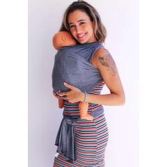 Sling para bebê básico Cinza Mescla